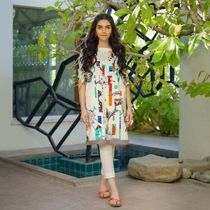 Alkaram studio MAK Summer 2020 Vol-1 Cream Lawn 1 Piece Suit For Women -A132224898