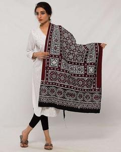 Women Multi Color Sindhi Ajrak 00004