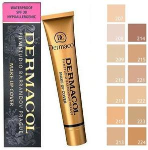 Darmacol 221 Brand High Quality Concealer Liquid Foundation Cover Freckles Acne Marks Waterproof