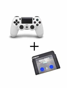 Playstation 4 Dualshock Controller With Analog Extender - White And Blue
