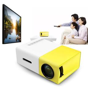 YG-300 LCD LED Projector 400-600 Lumens 320x240 800:1 Support 1080P Portable Office Home Cinema - EU plug (N)