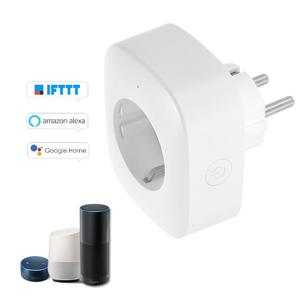 Mini Smart WiFi Socket EU Type F Remote Control by Smart Phone from Anywhere Timing Function, Voice Control for Amazon Alexa and for Google Home IFTTT