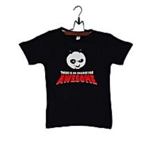 C-TeesBlack Cotton Kung Fu Panda T-Shirt For Kids