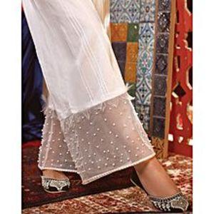 Bonanza SatrangiOff White Cambric Unstitched Trouser for Women
