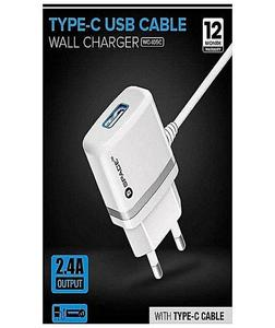 Model Wc-105C Wall Charger Type-C Usb Cable - White (1 Year Brand Warranty)