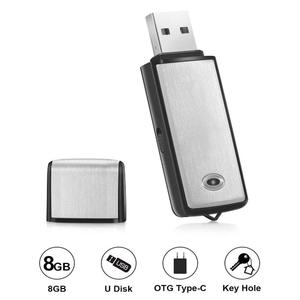Voice Recorder USB Flash Drive 128Kbps Digital Voice Recording 8GB for Windows Mac Android OTG Mini Recorder