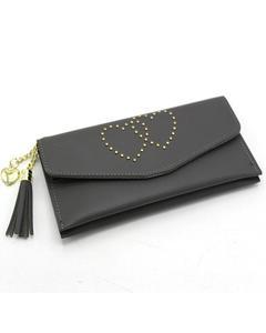 Stylish Lady Wallet Phone Pouch Handbag For Women -Grey