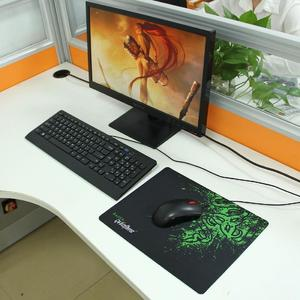 Extended Large Slim Anti-Slip Razer Pattern Soft Rubber Smooth Cloth Surface Game Keyboard Mouse Pad Mat, Size: 317 x 244 x 2 mm