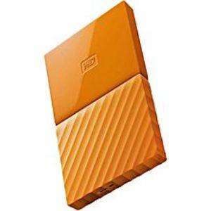 WD1TB My Passport USB 3.0 Secure Portable Hard Drive (Orange)
