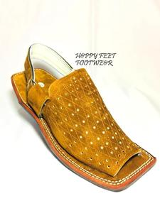 70% New Stylish Real Leather Mens Camel Balaaj Peshawari Sandal For Style(Same Product Will Deliver)