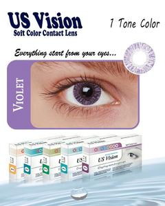 US Vision 1 Tone Contact Lenses - Violet