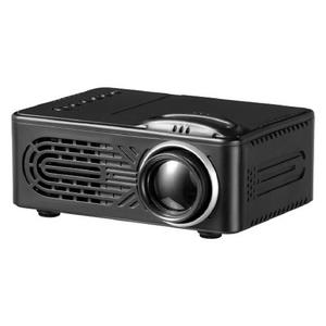 RD - 814 Mini Portable 1080P HD LED Projector for Home Theater, Travel - Black (EU Plug)