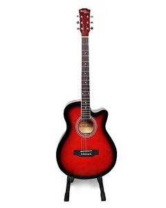 """41"""" Acoustic Guitar - Red"""