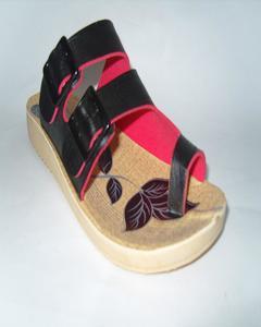 Black Rexiene Strap Style Slipper For Women