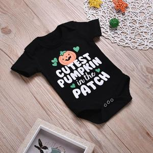 Stonershop Newborn Infant Baby Girls Boys Letter Print Romper Jumpsuit Halloween Outfits