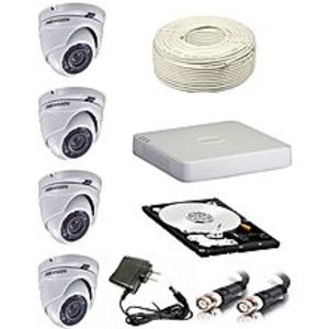 "Hikvision Cctv Indoor ""1 Mega Pixel 4 Camera Package"""