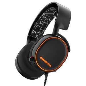Arctis 5 RGB Illuminated Gaming Headset with DTS Headphone:X 7.1 Surround for PC, PlayStation 4, VR, Android and iOS - Black