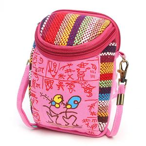 National wind bag shoulder mobile phone bag canvas casual clutch bag ladies purse handbags diagonal female bag