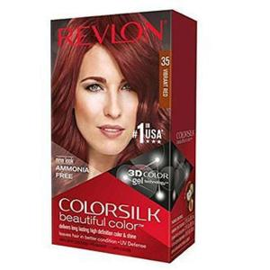 Color Silk 3D Technology USA For Men and Women No 35 Vibrant Red