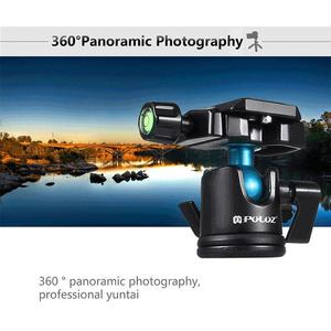 Amazing  PULUZ Camera Tripod Compact 3KG Load 360 Degrees Ball Head Camcorder Panoramic