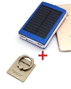 Solar Power Bank Note & Note Checker 15000Mah - Solar Power Bank - Black