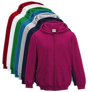 New Winter Collection Random colors Zipper Hoodies For Kids Boy Girls Unisex