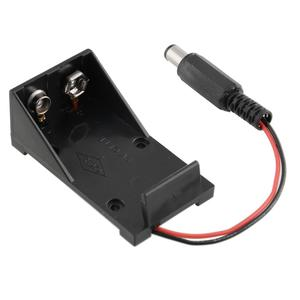 NEW 1pcs Plastic 9V Battery Holder Box Case Plug 5.5*2.1mm for Arduino