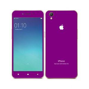 Oppo A37 -Simple Matt Purple iPhone Look Skin -Mobile Skin