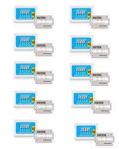 Pack Of 10 - Derby Extra Stainless Steel Razor Blades