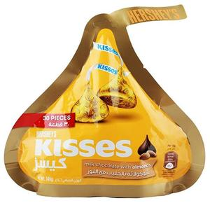 Kisses Milk Chocolate with Almonds - 146 gm