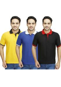 Pack of 3 - Contrasts T-Shirts For Men