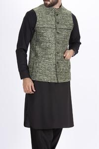 Almirah Summer Spring Collection Vol.01 2019 Green POLYESTER Men's Waistcoat