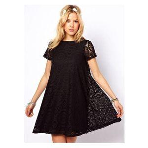Charji Shop Black - Flower Lace Dress For Women