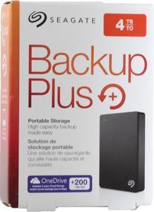 Seagate Backup Plus 4TB Portable External Hard Drive - USB 3.0 - STDR4000100 - Black