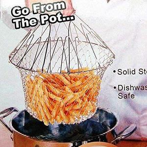Abc Chef Basket 12 in 1 Kitchen Tool for Cook, Deep Fry, Boiling Solid Steel Delux