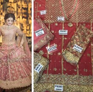 Bridal Women Unstittched Dress ON A VERY HUGE DIMAND SOBIA NAZIR WEDING COLLECTION 2018-2019