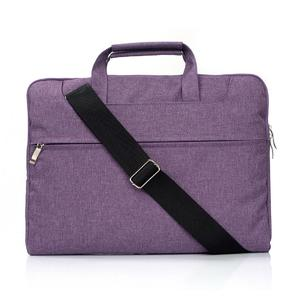 Portable One Shoulder Handheld Zipper Laptop Bag, For 15.4 inch and Below Macbook, Samsung, Lenovo, Sony, DELL Alienware, CHUWI, ASUS, HP (Purple)