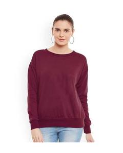Maroon Sweatshirt For Unisex