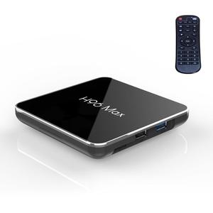 H96 Max X2 Ultra HD Media Player Smart TV BOX with Remote Controller, Android 8.1, Amlogic S905X2 Quad Core ARM Cortex A53 up to 2.0GHz, 4GB_xdf61_�, Support TF Card, HDMI,USB 3.0/2.0, AV, WiFi