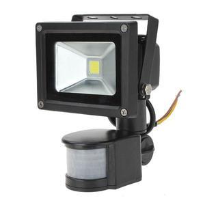 10W White PIR Motion Sensor Security LED Outdoor Waterproof Flood Light 110V