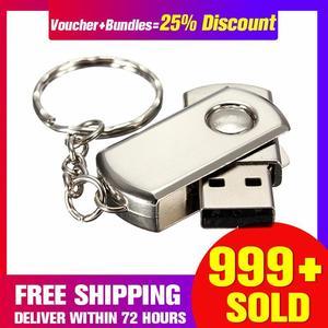 【Free Shipping + Super Deal + Limited Offer】New Mini 64GB Metal Swivel USB 2.0 Keychain Flash Memory Stick Storage Thumb Pen