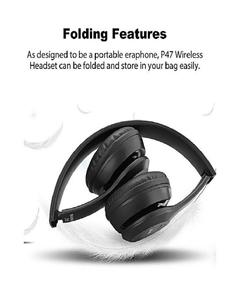 Bluetooth Wireless Headphone Sports Bass Stereo With FM Black Color