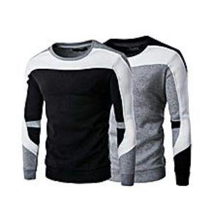 AybeezPack Of 2 - Multicolor Fleece SweaT-Shirt For Men