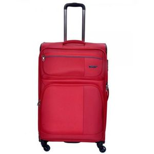 Medium Size Soft Luggage 4 Wheels - Red