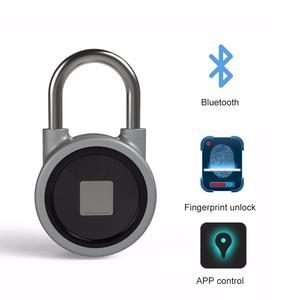 Portable Smart Fingerprint Padlock Set Safe USB Charging Rechargeable Waterproof Door Lock APP Control