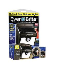 Everbrite Motion Activated Outdoor Led Solar Rechargeable Porch Light