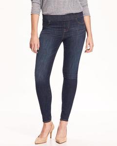 Blue Cotton Slim Fit Jegging For Women