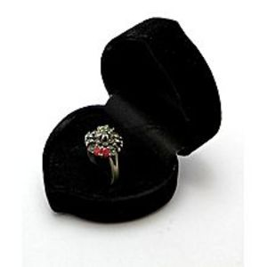 Gilgit BazarEmerald Sapphire and Ruby Stone Silver Ring GB(5)4397