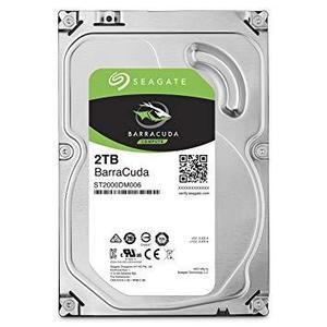 Seagate BarraCuda - 2TB Internal HDD Storage - 7200 rpm