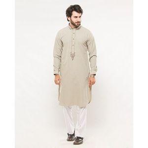 Fawn Khadi Casual Designer Kurta